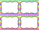 Blank Task Cards: Rainbow - Bright (300dpi)   Editable PowerPoint