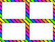 Blank Task Cards - Rainbow Color Scheme
