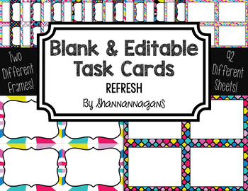 Blank Task Cards: Refresh | Editable PowerPoint