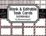 Blank Task Cards: Southern Belle | Editable PowerPoint