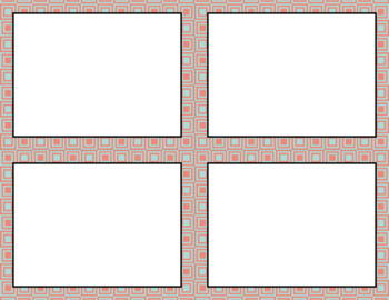 Blank Task Cards: Spring Collection (300dpi) | Editable PowerPoint