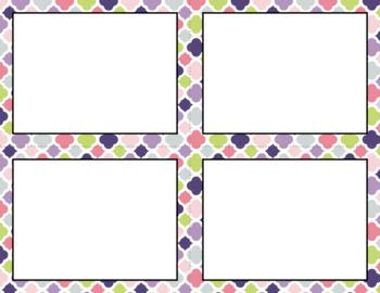 Blank Task Cards: Spring Garden | Editable PowerPoint