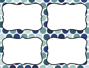 Blank Task Cards: Succulent   Editable PowerPoint