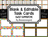 Blank Task Cards: Sweet Summertime | Editable PowerPoint