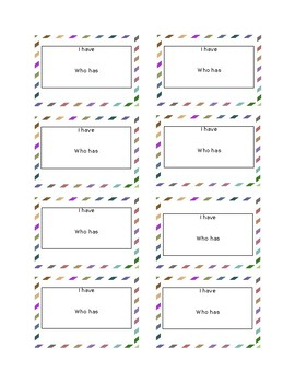 Blank Task Cards Template!!
