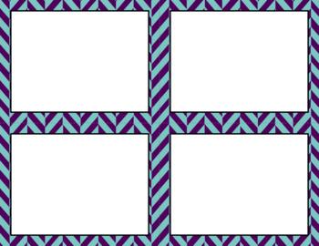 Blank Task Cards: Winter Dusk Collection (300dpi)   Editable PowerPoint