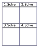Blank Task Cards and Answer Page