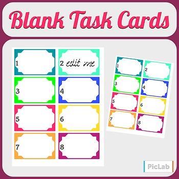 Blank Task/Station/Center/Scoot Cards