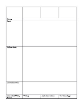 Blank Template for Pearson Ready Gen