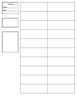 Blank Template for Vocabulary Cut & Paste Practice