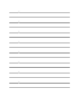 Blank Template to Write a Play