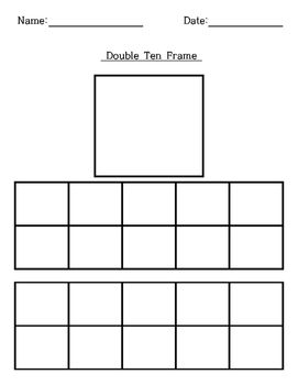 Blank Ten-Frame, Double Ten-Frame Template