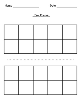 image about Ten Frames Printable named 10 Body Template Worksheets Instruction Supplies TpT