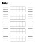 Blank Ten Frame Worksheet for Instruction