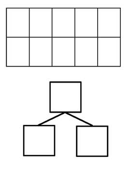 Blank Tens Frame and Number Bond
