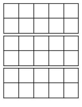 Blank Tens Frames