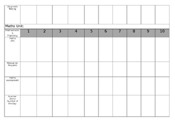 Blank Term Planner Document