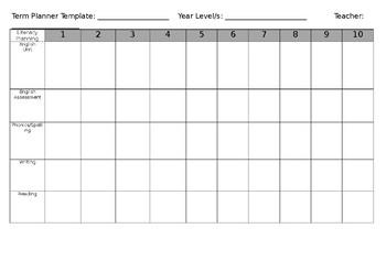 Blank Term Planner Document