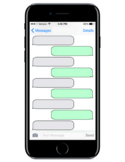 Blank Text Message Conversation