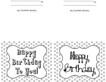 Blank Colorable Polka Dotted Thank You, Birthday & Just Wanted To Say Cards