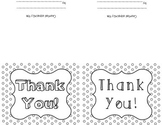 Blank Colorable Polka Dotted Thank You, Birthday & Just Wa