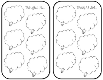 "***FREEBIE*** Blank ""Thought Jot' Bubbles"