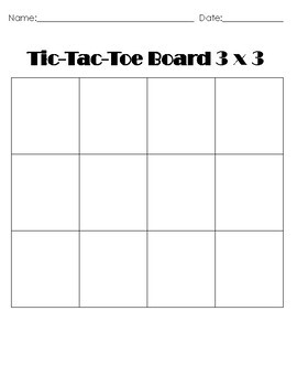 picture relating to Free Printable Tic Tac Toe Board called Blank Tic-Tac-Toe Message boards 3x3 and 4x4