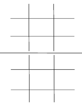 Blank Tic Tac Toe Boards
