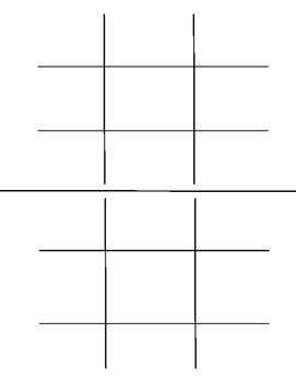 Blank Tic Tac Toe Boards