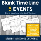 Blank Timelines - 5 Events