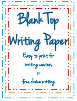 Blank-Top Writing Page