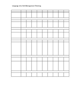 Blank Tracking Sheets (IEP or SP)