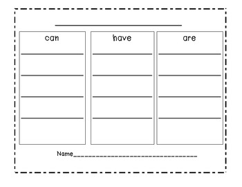 (Blank) Tree Map for Informational Reading Responses