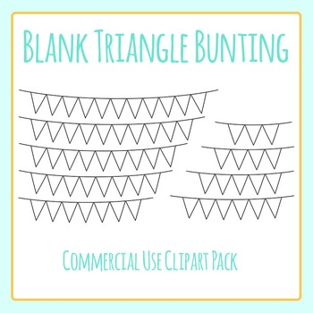 Blank Triangle Bunting Clip Art Pack for Commercial Use
