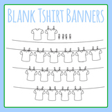 Blank Tshirt Word Banner / T-shirt Laundry Word Word Clip Art Commercial Use
