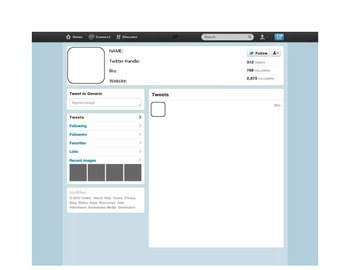 blank twitter profile template - blank twitter template by ms h scholars teachers pay