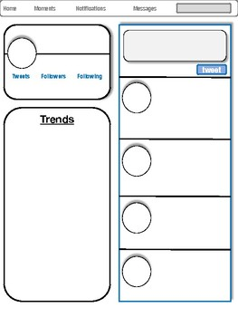 blank twitter template by rebecca s lessons teachers pay teachers