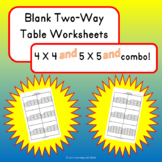 Two-way Tables Worksheet Teaching Resources | Teachers Pay Teachers