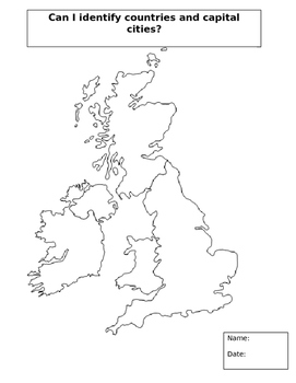 Blank Uk Map Blank UK Map by Steven's Social Studies | Teachers Pay Teachers