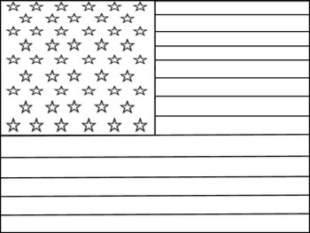 Dashing image with printable american flag coloring page