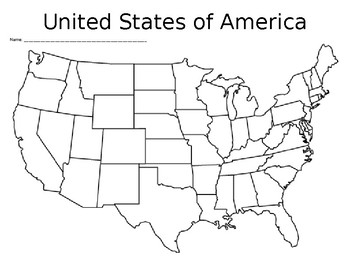 Blank United States Map By Sincerelysally Teachers Pay Teachers