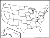 Blank United States Maps (Three Versions)