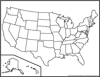 Blank United States Maps (Three Versions) by Learning With Kiwi | TpT