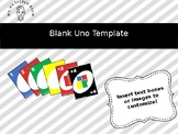 Blank Uno Cards: Editable PowerPoint