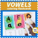 Blank Upper-Lower Case Vowels Flashcards