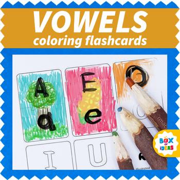 Blank Upper-Lower Case Vowels Flashcards