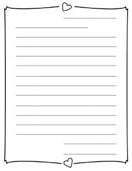 Blank Valentine's Day Letters