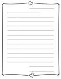 Valentine's Day Letter Paper