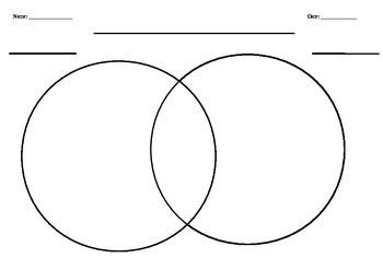 Blank Venn diagam - 2 circles