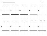 Blank Vertical Addition